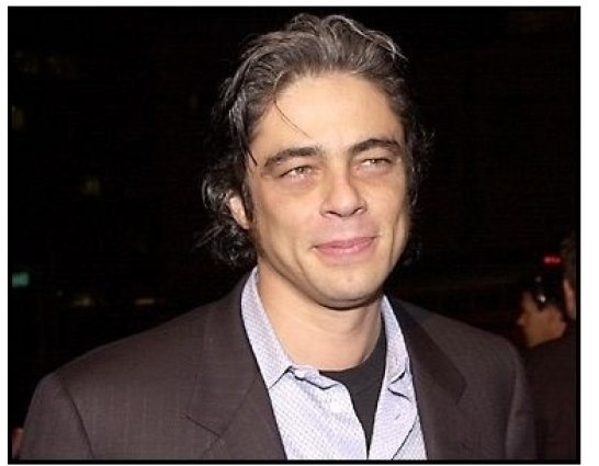 Benicio Del Toro at the Traffic premiere