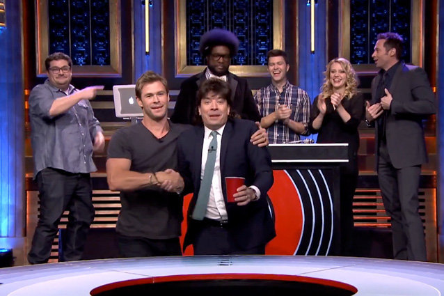 Jimmy Fallon, Chris Hemsworth, Hugh Jackman, The Tonight Show Starring Jimmy Fallon
